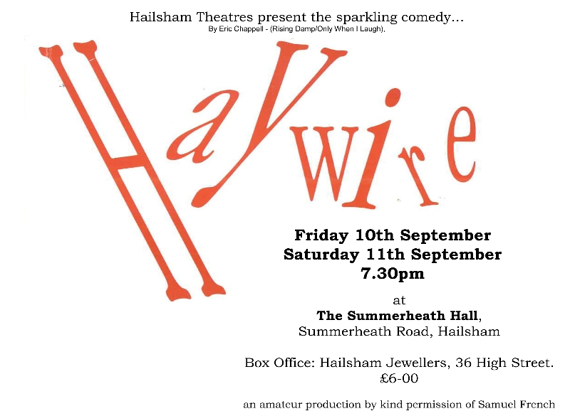 Hailsham Theatres present the sparkling comedy…
